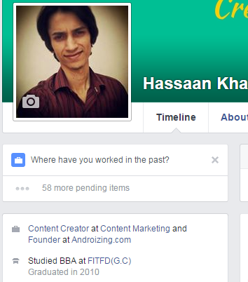 facebook profile detail