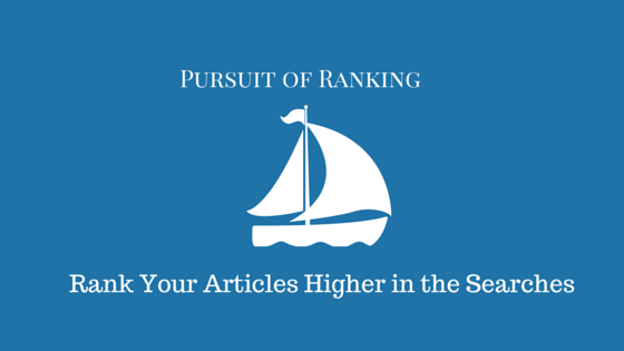 ranking of articles higher in the searches