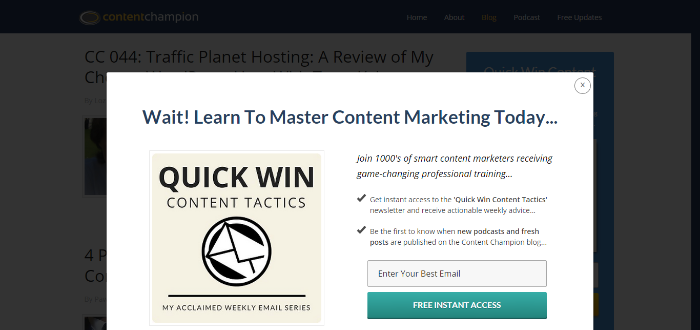 content champion email newsletter