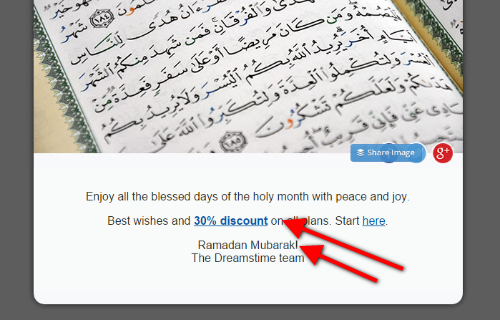 email marketing offer for ramadan