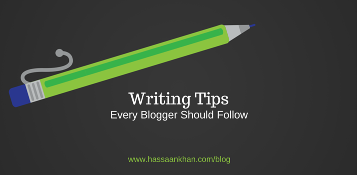 writing tips to follow