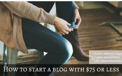 How to Start a Blog with $75 or less
