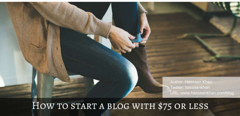 how to start a blog in a cost-effective way