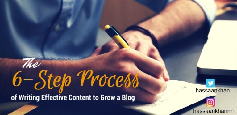 The 6-Step Process of Writing Effective Content to Grow a Blog