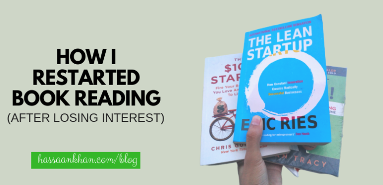 How I Restarted Book Reading (After Losing Interest)